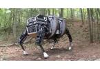 Четвероногий военный робот следует за хозяином