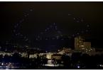 50 квадрокоптеров устроили световое шоу