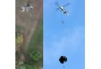 Вертолёт-робот прицельно сбросил грузы с парашютом