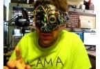 самодельная карнавальная маска киборга