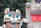 Кошка-робот заманивает японцев в музей