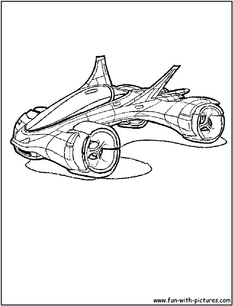 Раскраска машины будущего