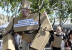 Костюм гигантского робота из картона