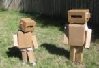 Костюм робота из картонных коробок