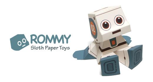 бумажный робот Ромми