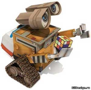 робот Wall-e из бумаги